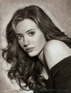 Emmy Rossum - 50 Excellent Examples of Portrait Drawing <3 <3 Face Pencil Drawing, Realistic Pencil Drawings, Realistic Eye, Pencil Art, Pencil Sketching, Portrait Sketches, Pencil Portrait, Art Sketches, Art Drawings