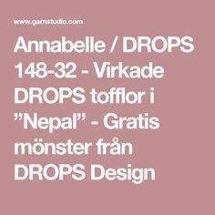 """Annabelle / DROPS 148-32 - Virkade DROPS tofflor i """"Nepal"""" - Gratis mönster från DROPS Design"""