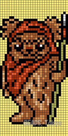 Ewok - Star Wars Perler Bead Pattern - BEADS.Tokyo