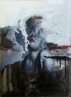 "Saatchi Online Artist: cosmin vaida; Acrylic 2013 Painting ""portret"""
