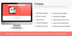 Primo Responsive Landing Page Template can be used for marketing of your App for Android and iOS devices. Its easy to customize and work with. It can be used for any types of apps to market it. Primo Template uses responsive layout which can be viewed on devices such as smart phones, tablets, laptops and desktops. You can change the main site/template color scheme by changing few hex codes and the associative elements gets a new color.