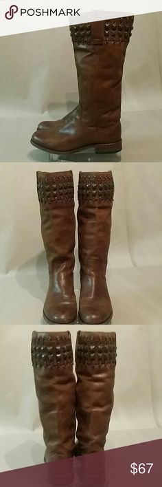 SENDRA WOMEN'S BOOTS *Final price * Sendra Studded Leather boots in brown. Hand crafted in Spain. Size 8/ 8.5 SENDRA Shoes Combat & Moto Boots