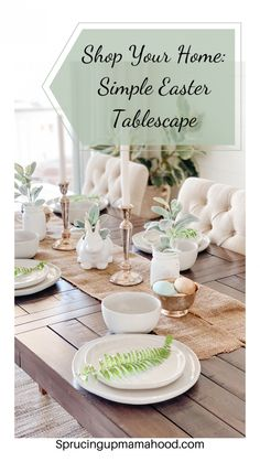 How I Decorated My Table For Easter By Shopping My Home! I walk through my thought process in hopes it helps others to be able to shop their homes as well! Easter Table Decorations, Thanksgiving Decorations, Table Centerpieces, Easter Decor, Decorating Your Home, Holiday Decorating, Dining Room Inspiration, Spring Home, Home Decor Styles