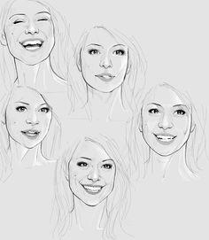 Tatiana Maslany face study.