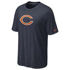 nike nfl jersey Nike NFL Dri-Fit Logo Legend T-Shirt - Men s - Football -  Fan Gear - Bears - Dark Grey Heather nfl jersey by nike. Chicago Team Store 965e5ce45