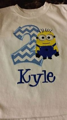 Dispicable Me Minion Birthday Kids Shirt  by TCPassionateStitches, $18.00