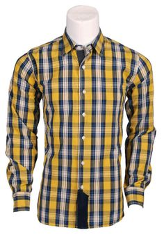 Camisa cuadros hombre | Camisa Seaport | Manga larga