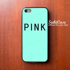 PINK iPhone 5/5S, iPhone 5C, iPhone 4/4S https://www.etsy.com/es/listing/171924453/iphone-5-case-pink-word-on-mint-parody