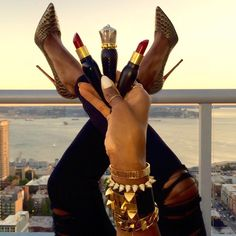 "Kahlana Barfield on Instagram: ""Sitting on top of the world with my new @LouboutinWorld lipsticks. I live and breathe for a red lip. Literally did a triple double backflip when Christian Louboutin sent me these perfect reds (they come in 3 different textures). When I tell you the packaging is on another level. Any girl who loves a red lip must own. #BeauteLouboutin #LouboutinCharme"""