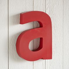 "RED LETTER WALL DECOR -- Spell it out or just put your initial on it—these red letters let you make the message—and the space—yours. Welded sheet metal. Imported. Please specify letter. Approx. 5"" to 8""W x 10""H."