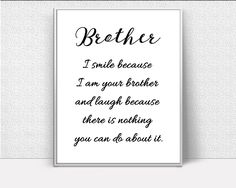 Brother Definition, Brother Wall Art, Brother Love, Inspirational Wall Art, birthday gift, Art Printables, Creative Home Decor #wallart #posters #inspirational