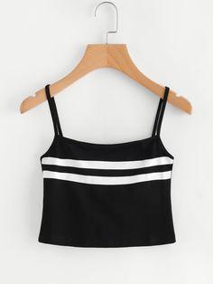 Varsity Striped Crop Cami Top