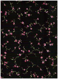 Stoff Streublumen - Baumwollstoff Meterware Röschen auf schwarz - ein Designerstück von Sonni-Mami bei DaWanda