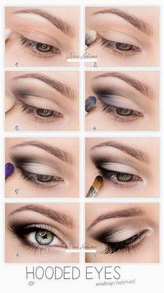 hooded eye tutorial Beautiful Eye Makeup, Beautiful Eyes, Makeup Lessons, Smokey Eye Makeup, Cool Eyes, Human Eye, Pretty Eyes, Gorgeous Eyes, Eyes