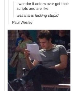 Paul Wesley The Vampire Diaries Vampire Diaries Memes, Vampire Diaries The Originals, Vampire Diaries Damon, Stupid Funny Memes, Hilarious, Funny Stuff, Vampier Diaries, Cw Series, Original Vampire