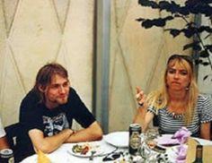 Kurt Cobain and Kim Gordon of Sonic Youth Dublin, 1991