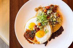 Chef Michael Poompan recommends adding fresh salsa and avocado to your Huevos Rancheros for a southwestern flair to this savory dish.