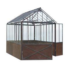 Gewächshaus aus Metall mit Rosteffekt, H 252cm Tuileries