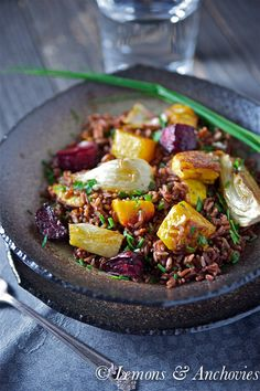 Red rice with roasted squash, fennel and beets @Jean | Lemons and Anchovies