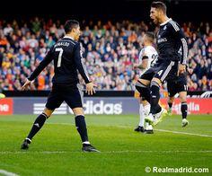 Valencia 2 - 1 Real Madrid. Ronaldo scored.