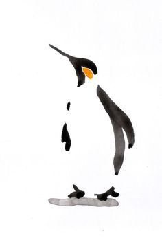 ARTFINDER: Penguin by Becca Alaway - A series of Penguin paintings using a loose…