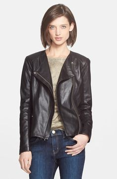 A slightly more feminine take on the moto jacket. I like the clean look and longer length. #currentlyobsessed