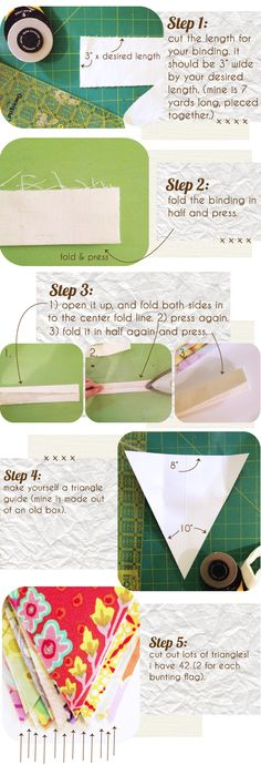 make your own DIY bunting banner