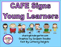 CAFE sign FREEBIE and colorful, visual reading strategy card packs... tell you how to prep your board.