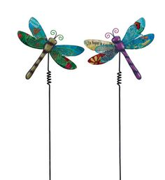 Dragonfly Stake, 2 Assorted