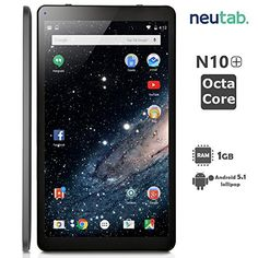 NeuTab® 10.1 Inch Octa Core Android 5.1 Lollipop System Tablet 1GB RAM 16GB ROM Bluetooth 4.0 Dual Camera Mini HDMI output Slim Design Black - A83T Octa Core Processor A83T processor comes with Eight Cortex-A7 Cores that runs up to 2.0GHz and a high-speedPowerVR Series5 GPU architecture.  To minimize its power consumption, A83T sports the extremely power-efficient Cortex-A7 CPUarchitecture and the performance- power balanced GPU, and... - http://buytrusts.com/giftsets/2015/0