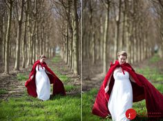 A Red Riding Hood wedding would look lovely in a woodsy setting.
