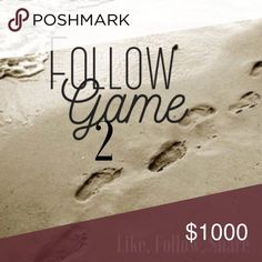 Follow Game 2 Follow Game 2, just like, follow everyone else who has liked this, share win followers and PPF. 💕💕💕💕 Other