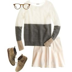 Neutral prep outfit