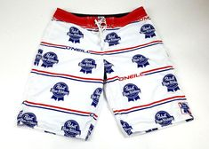 95af032101 Men's O'Neill Pabst Blue Ribbon Beer Board Shorts Swim Trunks W 33 #ONeill  #BoardShorts