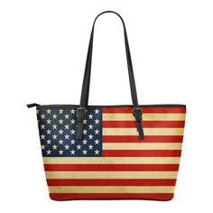 U.S.A - SMALL LEATHER TOTE BAG