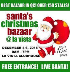 Christmas Bazaar Schedule 2015 around the City Bazaars, Santa Christmas, Schedule, Timeline