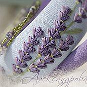 "Handmade Jewelry. Fair Masters - handmade bracelets ""Lavender"" from polymer clay and beads. Handmade."