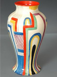 Art Deco: Theme: Architecture: Tennis vase by Clarice Cliff