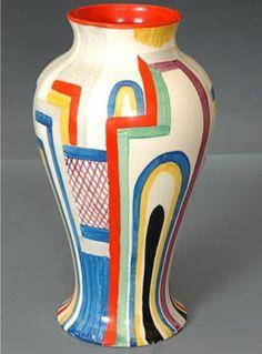 Art Deco: Theme: Architecture: Tennis vase by Clarice Cliff