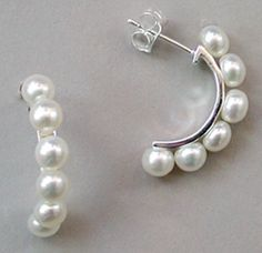 Pearls are perfect for day, evening or bridal wear. http://www.annabelchaffer.com/products/Earrings-Pearl.html