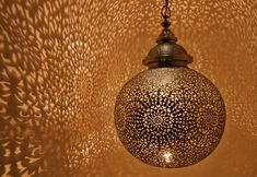 Moroccan-inspired lighting. Yes.