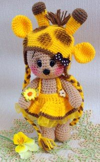 Inspiraría only (no pattern) Crochet Doll Pattern, Crochet Toys Patterns, Amigurumi Patterns, Amigurumi Doll, Crochet Dolls, Doll Patterns, Crochet Bear, Cute Crochet, Crochet Animals