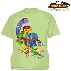 Wild Cotton Cool Dinos With Glasses Dinosaur Graphic T-Shirt | Nothing But Dinosaurs