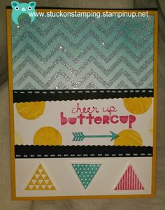 Geometrical stamp set from Stampin' Up!  Cute set but challenging to work with.