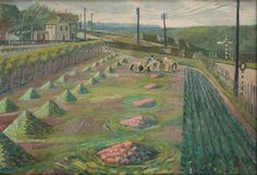 Evelyn Dunbar, Land Workers at Strood, 1938