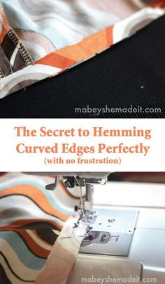 here's how to easily hem a curved edge | 25 More Sewing Hacks to Make Life Easier |Check them out at https://diyprojects.com/sewing-projects-life-hacks