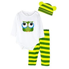 Miyoyo Baby Kids 3 Pieces Pant Clothing Sets Romper Long Sleeve 1824month owl * Find out more about the great product at the image link.