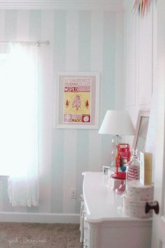 DIY Vintage Candy Shop Girl's Bedroom Reveal DIY Wall Accent