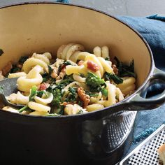 One-Pot Pasta with Broccoli Rabe and Bacon  Make this vegetarian by substituting 2 tablespoons olive oil for the bacon.