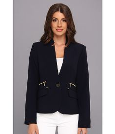 Jones New York Jacket w/ Rivet Details At Pockets